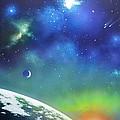 Auroa Borealis From Space by Thomas Kolendra