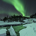 Aurora Borealis Over A Frozen Tennevik by Arild Heitmann