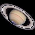 Aurora On Saturn by Nasaesastscij.clarke, Boston U.