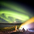 Aurora Watching, Time-exposure Image by Chris Madeley