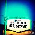 Auto Repair Sign On Route 66 by Susanne Van Hulst
