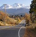Autumn And Mt Shasta Down The Road by Mick Anderson