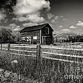 Autumn Barn Black And White by Joshua House