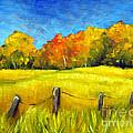 Autumn Farm Field by Hilary England