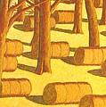 Autumn Haybales by John  Turner
