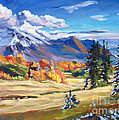 Autumn In The Foothills by David Lloyd Glover