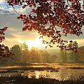 Autumn Morning At Harvard Pond by John Burk