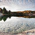 Autumn Nature Lake Rocks And Trees Panorama by Oleksiy Maksymenko
