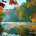 Autumn On The White River I by Julie Dant