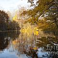 Autumn Pond In Harbor Country by Christopher Purcell