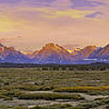 Autumn Sunrise Over The Tetons by Fred J Lord