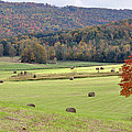 Autumn Valley Hay Bales by Jan Amiss Photography