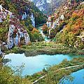 Autumn Valley Landscape by Artur Bogacki