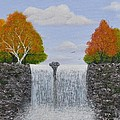 Autumn Waterfall by Georgeta  Blanaru