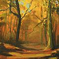 Autumn Woods 1 by Paul Mitchell