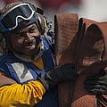 Aviation Boatswains Mate  Carrying by Stocktrek Images