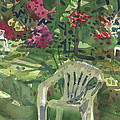 Azaleas And Lawn Chairs by Donald Maier