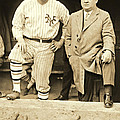 Babe Ruth And John Mcgraw 1923 by Padre Art