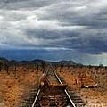 Baby Buggy On Railroad Tracks by Jill Battaglia