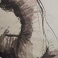 Back Torso - Sketch Of A Female Nude by Carmen Tyrrell
