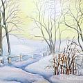 Backyard Winter Scene by Inese Poga