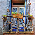 Balcony Door Dordogne France by Dave Mills