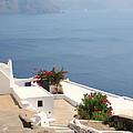 Balcony Oia Santorini Greek Islands by Carole-Anne Fooks