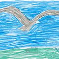 Bald Eagle Flying by Margaret Acker