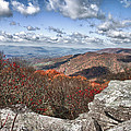 Bald Knob Overlook Near Mountain Lake by James Woody