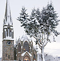 Ballater Church In Snow by Howard Kennedy