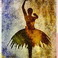 Ballerina 1 With Border by Angelina Vick