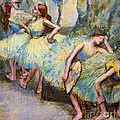 Ballet Dancers In The Wings by Pg Reproductions