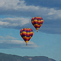 Balloons Over The Rockies Painterly by Ernie Echols
