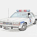 Baltimore County Police Car by Calvert Koerber
