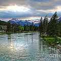 Banff And The Bow River - 02 by Gregory Dyer