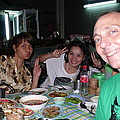 Bangkok Sidewalk Dinner With Spicy Friends by Gregory Smith