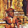 Banteay Srei Statue by Ryan Fox
