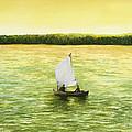 Bar Harbor Sailboat by Mary Ann King