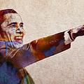 Barack Obama Watercolor by Steve K
