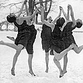 Barefoot Dance In The Snow by Underwood Archives