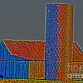 Barn And Silo by Alan Look
