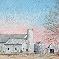 Barn And Sycamore by Jim Gerkin