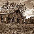 Barn In Turbulent Sky by Douglas Barnett
