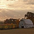 Barn In Warming Storm by Randall Branham