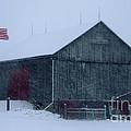 Barn In Winter by Ronald Grogan