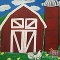 Barn On The Farm by Eva  Dunham