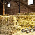 Barn With Hay Bales by Elena Elisseeva