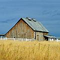 Barn With Stormy Skies by Randy Harris