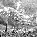 Barnums Museum Fire, 1865 by Granger
