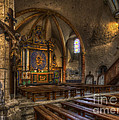 Baroque Church In Savoire France 2 by Clare Bambers